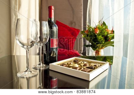 Wine And Chocolates - Romantic Evening
