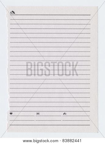 Lined Notebook Sheet