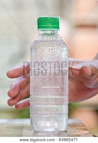 Cool Drinking Water In Bottle