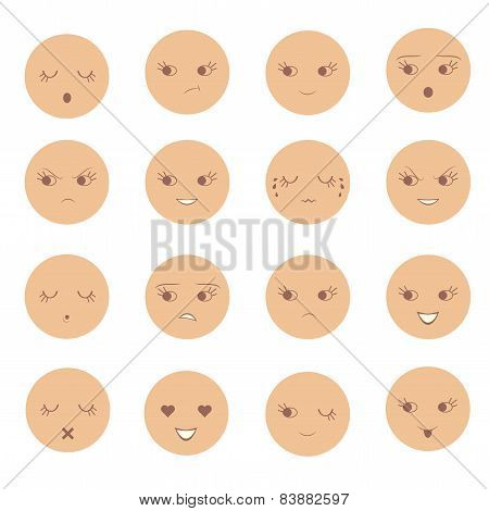 cartoon vector face emotion,