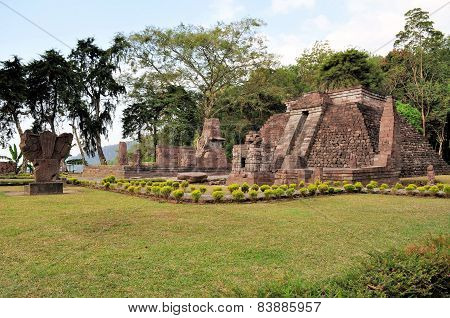 Candi Sukuh Hindu temple near Solokarta, Java, Indonesia