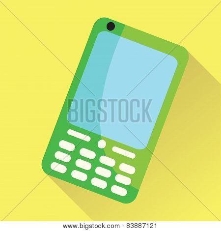 Cellular Phone Flat Icon