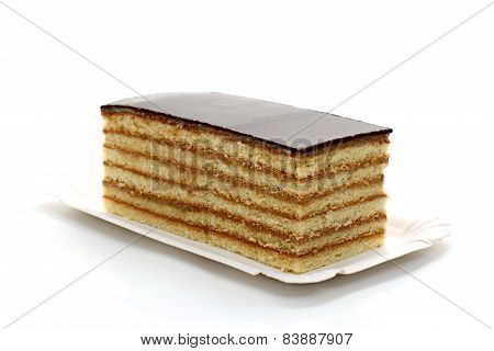 Prince Regent Cake, Thin Layers Of Biscuit Covered With Chocolate