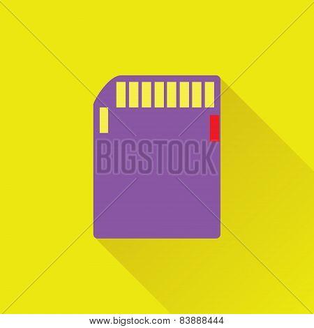 Memory Card Flat Icon