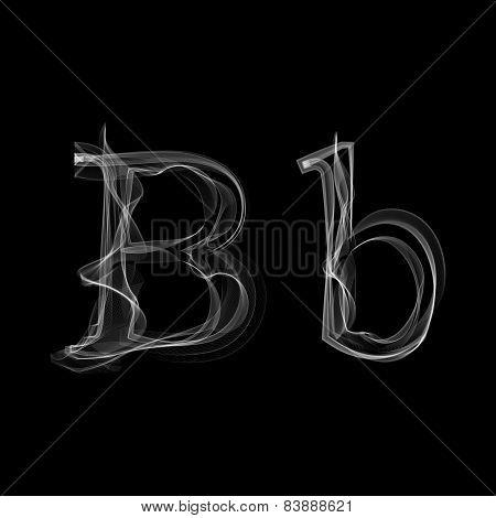 Smoke font. Letter B