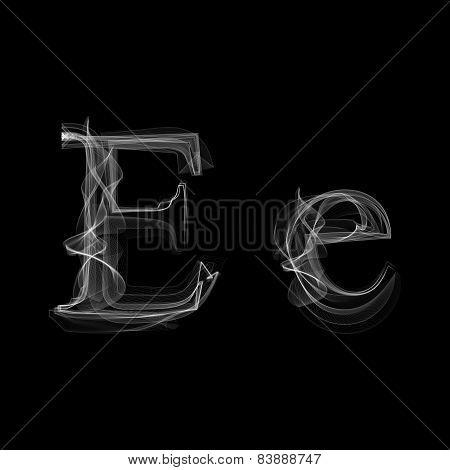 Smoke font. Letter E