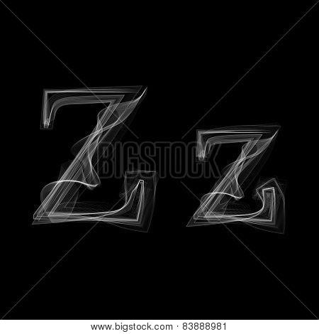 Smoke font. Letter Z