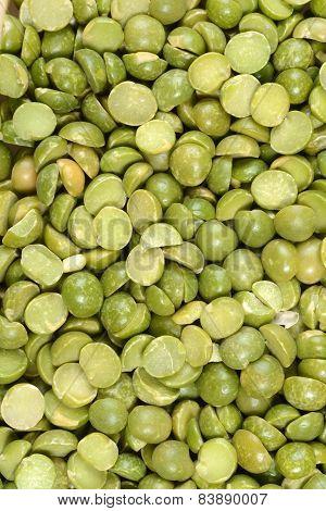 macro split green pea background