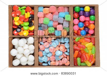 wood box assorted candies