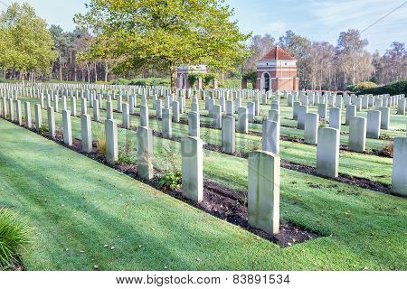 Canadian war cemetery in Holland