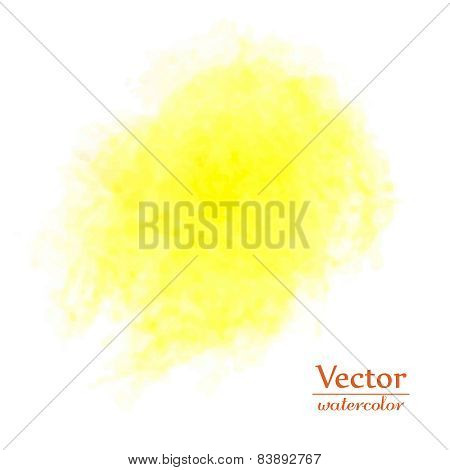 Yellow Spot. Abstract Stylish Watercolor Background.