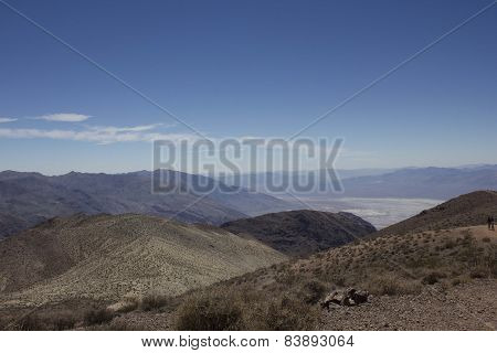 Landscape View Of Death Valley National Park From Dante's View