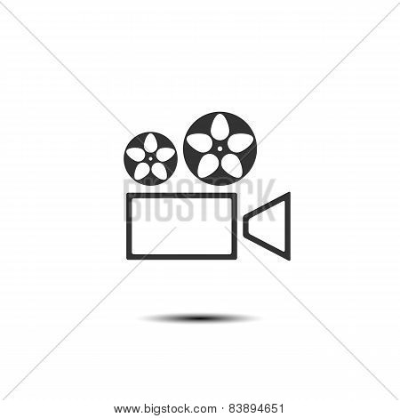 Icon Projector, Vector Illustration.