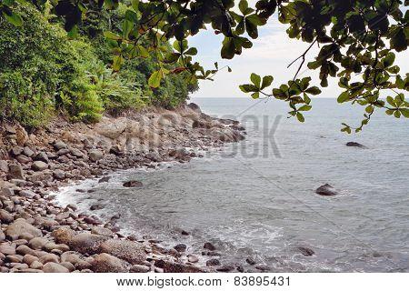 Coast Of Khao Lak In Thailand