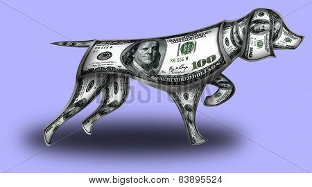 Dog Made From Dollars