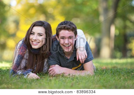 Smiling Boyfriend And Girlfriend
