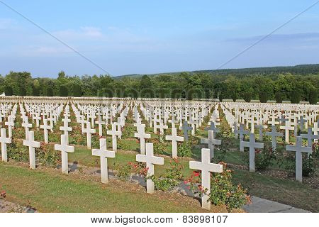 French National Cemetery on Thiaumont Ridge near Verdun
