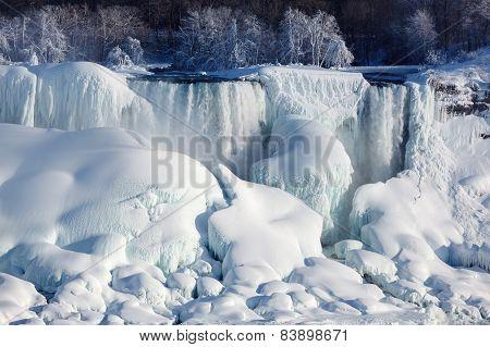 Ice Build-up Of Niagara Falls, Winter Of 2015