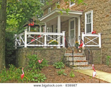 Flamingo-ed Porch