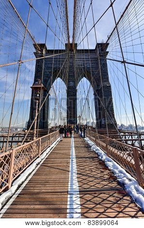 Brooklyn Bridge, Winter - New York City
