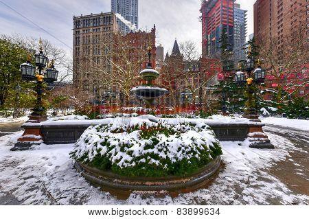 City Hall Park Fountain - New York City