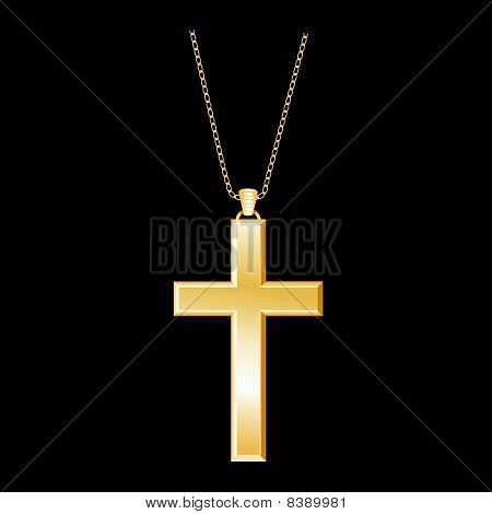 Gold Cross & Chain