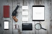 pic of private detective  - Mockup business template - JPG