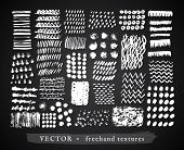 pic of freehand drawing  - Set Creative Freehand Isolated Textures - JPG