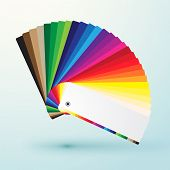 stock photo of colore  - developed color swatches palette with bright colors - JPG