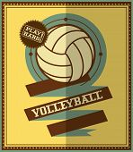 image of volleyball  - Flat design - JPG