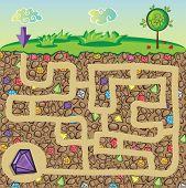 foto of precious stone  - Maze for children  - JPG