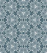 picture of psychedelic  - vector white monochrome psychedelic floral abstract seamless pattern dark grey background - JPG
