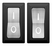 picture of toggle switch  - Electric switch on a white background - JPG