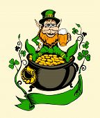 stock photo of pot gold  - An illustration of St - JPG