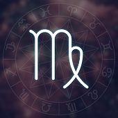 foto of virgo  - Zodiac sign  - JPG