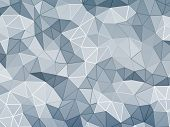 image of three-dimensional  - Abstract geometric faceted background - JPG