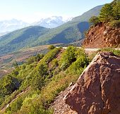 stock photo of atlas  - dades valley in atlas moroco africa ground tree and nobody - JPG