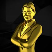 image of employee month  - A successful executive is so good that she is made of Gold - JPG