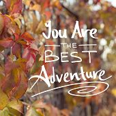 Постер, плакат: You Are The Best Adventure