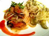 pic of spaghetti  - Spaghetti pasta with tomato sauce - JPG