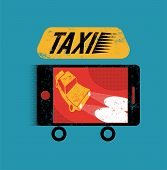 stock photo of silkscreening  - Taxi - JPG