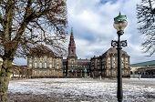 pic of copenhagen  - Christiansborg castle with the parliament in Copenhagen Denmark  - JPG