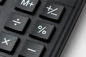 picture of keypad  - Closeup photo of percent button on calculatror keypad - JPG