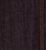 foto of denim jeans  - Real black jeans denim texture background with stitch - JPG