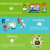 pic of internet shop  - Internet shopping concept laptop with awning of buying products via online shop store e - JPG