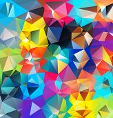 stock photo of shapes  - Abstract geometric background - JPG