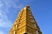 image of shakti  - Tall entrance building of Hindu Temple at Chamundi Hills in Mysore - JPG