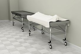 pic of autopsy  - 3d rendering of a macabre autopsy room - JPG