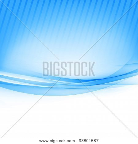 Blue Border Abstract Wave Soft Background