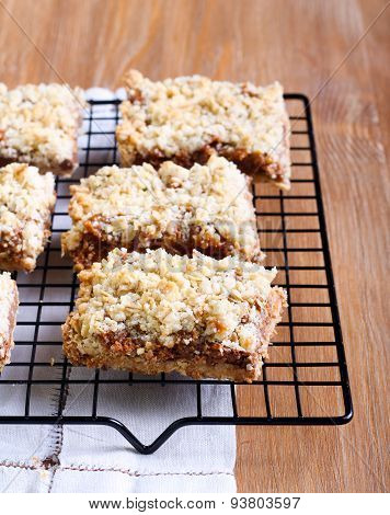 Chocolate And Caramel Oat Bars